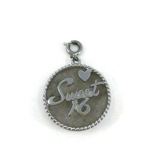Vintage Monet Brushed Silver Tone Sweet 16 Charm